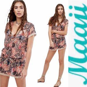 NWT Maaji Palm Print Beach Dress Coverup L